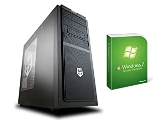 AroPC® - Gaming PC - New Hummer - Ivy Bridge 1155 (Intel Quad Core i5-3330 with open multiplier (4x 3.0) and 4 x 3.2 GHz in turbo boost), the cooling tower Scythe Mugen 3, MSI Z77 Mpower, 8 GB DDR3 -1600 PC, NVIDIA GeForce GTS 450 1 GB, 1 TB HDD SATAIII, 10x Blu-ray, Xilence 600W 80 +, is Nox Hummer SX, including Win7 HP 64 bit