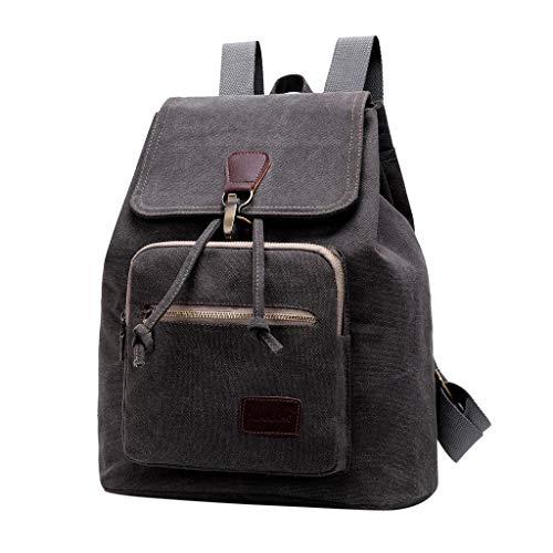 SANFASHION Retro Segeltuch Rucksack Männer Frauen Cavans Laptop Büchertasche Mehrzweck Draussen Backpack