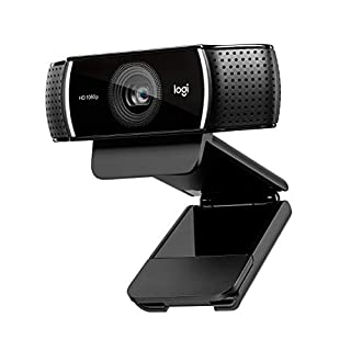 Logitech C920 HD Pro Webcam - Full HD 1080p Video Calling and Recording with Dual Stereo Audio Mics - Black