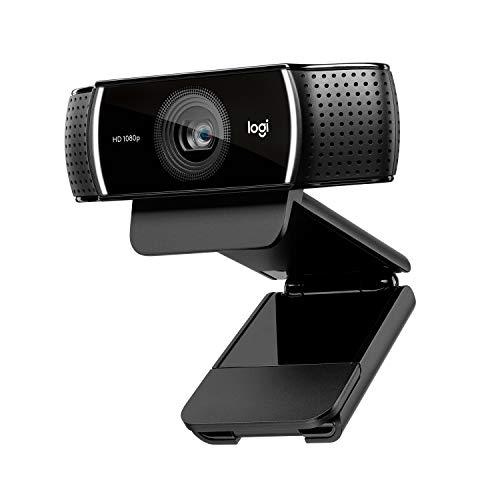 LogitechC920HDProWebcam(Videogespräche und Videoaufnahmen in FullHD mit 1080p und zwei Stereo-Mikrofonen) schwarz