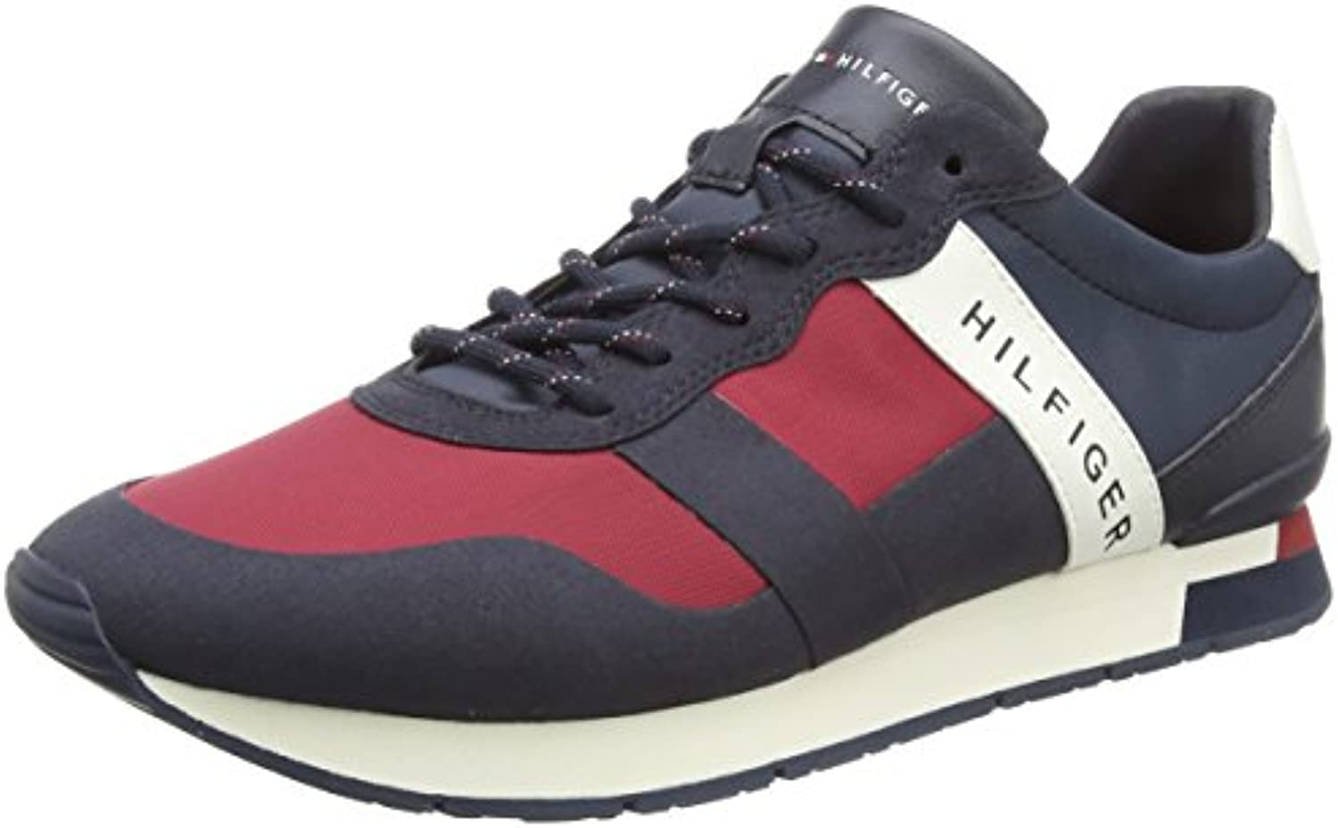 Tommy Hilfiger Printed Material Mix Runner, Zapatillas para Hombre