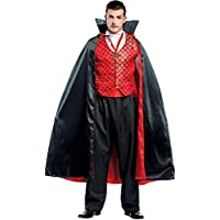 Costume di Carnevale da Conte Dracula Vestito per Uomo Adulti Travestimento  Veneziano Halloween Cosplay Festa Party 4d5a9c4d1f40
