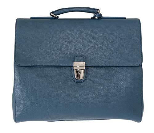 Dolce & Gabbana Laptoptasche, Leder, Blau
