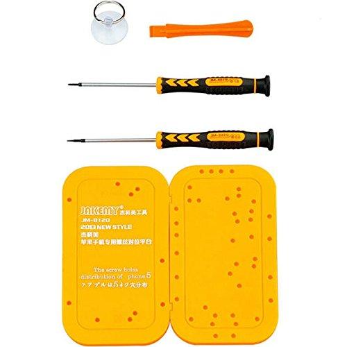 JAKEMY jm-8120 5 en 1 trous assortis Planche Kit de réparation Outils à main outils Set pour iPhone 5