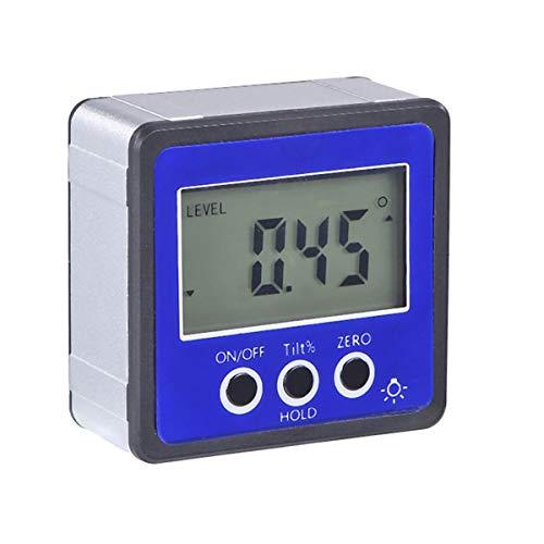 XingYue Direct Präzise Digital Neigungsmesser Winkelmesser Wasserdichtes Level Box Winkelsucher Bevel Box mit Magnetfuß (Color : Blau)