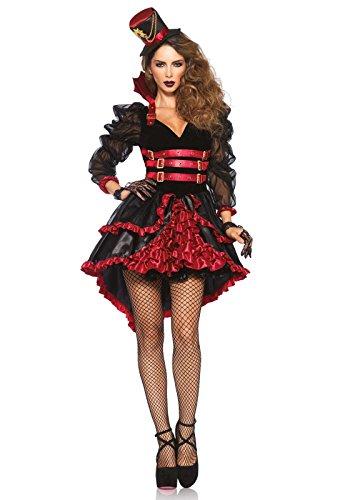 Leg Avenue 85399 - Victorian Vamp Damen kostüm, Größe Small (EUR 36), Damen Karneval Kostüm Fasching (Fantasia De Vampira Halloween)