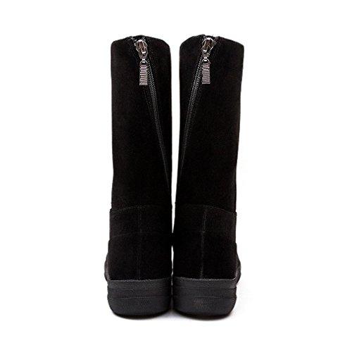 FF2 by FitFlop Femmes Noir FF-Lux GoGo Suède Bottes Black