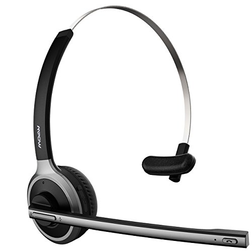 Mpow Bluetooth Headset,[Upgraded Version] Wireless Over-the-Head Headset bluetooth V4.1 Kopfhörer mit mikrofon für PC, Handy, VoIP, Skype, Call Center, Büro, LKW, Auto usw.(smart Telefonwahl)