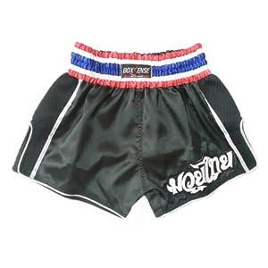 Boxsense BXSRTO-001 Black Retro Muay Thai Pantalones Boxeo Tailandes