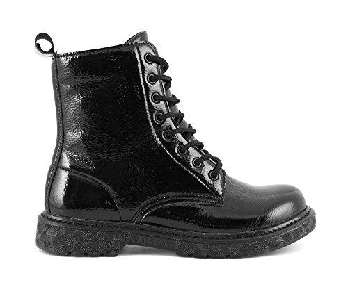 CafÈnoir Anfibi stivaletti nero scarpe donna FH913 38