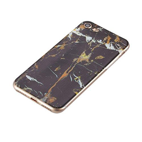 Coque iPhone 8 Plus, Couverture iPhone 7 Plus, Lifetrut [COUSSIN D'AIR] Transparent Colorful Pattern Soft TPU Gel Fashion Style Svelte Caoutchouc Silicone Étui de Protection pour iPhone 8 Plus/ iPhone E205-Marbre
