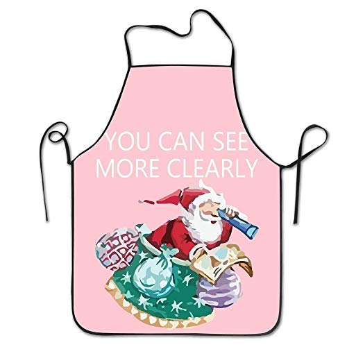 Lady Claus Kostüm Santa - HTETRERW Christmas Santa Claus Women's Funny Creative Print Cooking Aprons