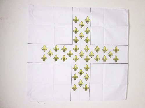 AZ FLAG Flagge KÖNIGREICH Frankreich Oberst Regiment D\'Armagnac 1776-1791 90x90cm - FRANZÖSISCHE Infanterie Fahne 90 x 90 cm Scheide für Mast - flaggen Top Qualität