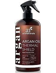 ArtNaturals Hitzeschutzspray Leave In Conditioner - (8 Fl Oz / 236ml) - mit Reinem Arganöl - Schützt das Haar bei Anwendung von Glatteisen und Föhn - Sulfat-frei