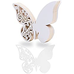 100 marcasitios en forma de mariposa para nombre de invitados o agradecimiento