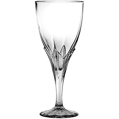 Crystaljulia 2535–Bicchieri da vino rosso cristallo al piombo, 6pezzi,