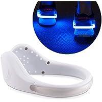 kwmobile 2X LED Schuhclip Blink Clip - Fahrrad Schuh Licht für Kinder Erwachsene - Reflektor Joggen Laufen - Blinklicht Band Set - Diverse Farben