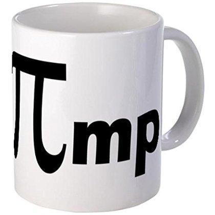 Demon Decal Mug - Math Pi Pimp Mugs - 15 Ounce Ceramic White Coffee/Tea Cup by Coffee Mug