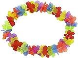 Alsino Pack de 12 Collares Hawaianos HK-01 | Flores Tejido | Diámetro Aprox. 30 cm | para Fiestas Temáticas | Hawaii | Despedida de Soltero y Soltera| Decoración