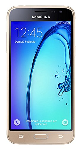 SAMSUNG GALAXY J3 - SMARTPHONE LIBRE ANDROID (5  8 GB  4G  13 MP  1 5 GB RAM)  COLOR DORADO