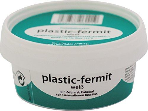 Plastic-Fermit weiß, Dauerplastische Dichtungsmasse, temperaturbeständig bis über 100°C (Temperaturbeständig Abdichten)