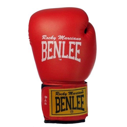 BENLEE Rocky Marciano Boxhandschuhe Pu Training Gloves Rodney, Rot/Schwarz, 16