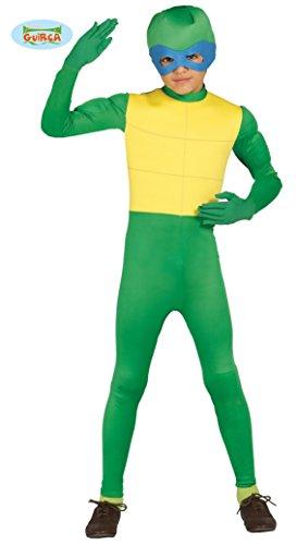 Ninja Schildkröte - Kostüm für Kinder Gr. 98 - 146, Größe:110/116