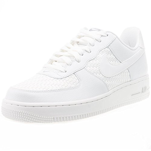 Nike Air Force 1 '07 Lv8, Chaussures de Sport Homme, Weiß, Eu Weiß (SMMT WHT/SMMT WHT-SMMT WHT-CHR)