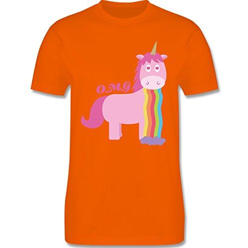 Statement Shirts - Kotzendes Einhorn - Herren Premium T-Shirt Orange