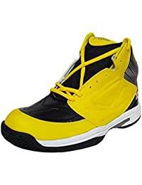 Women's X Aqua Warrior Black And Yellow Basketball Shoes