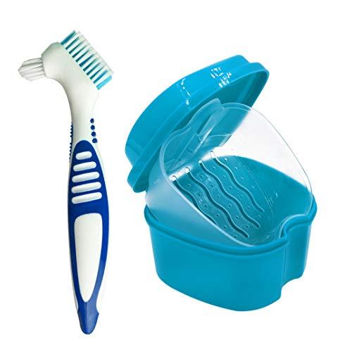El vaso de baño para dentaduras postizas ayuda a mantener un alto nivel de higiene de las dentaduras al proporcionar un espacio de almacenamiento limpio para sus dentaduras postizas o dientes falsos. Ideal para la limpieza diaria o remojo durante la...