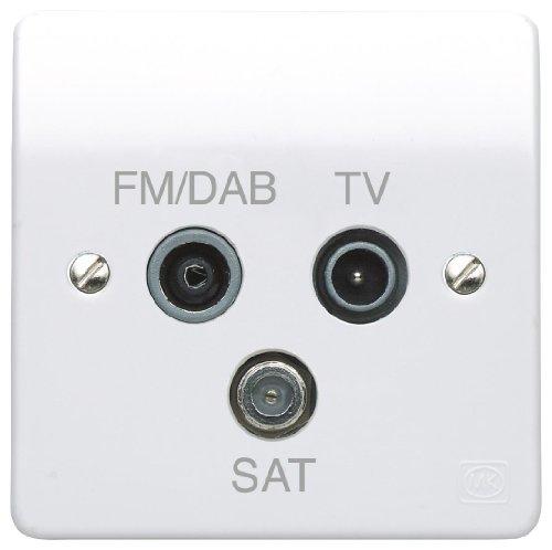 Preisvergleich Produktbild TRIPLEXER 1G TV/FM DAB/SAT K3553DABWHI By MK (ELECTRIC)