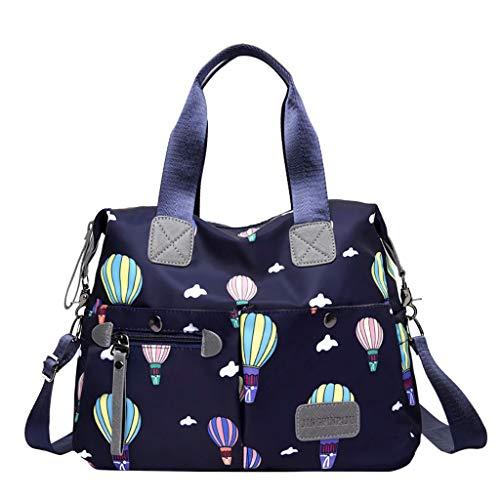 Zzxian moda borse tote impermeabile etnici multifunzione 4 colori borsa a spalla borsa a tracolla donna eleganti borsetta borsellino borsello per regalo viaggio lavoro shopper (blu)