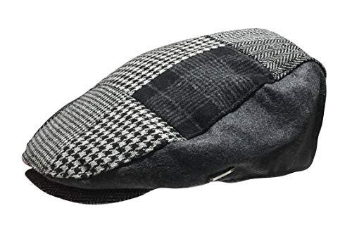 A&W Ivys Golfmütze im Alten Welt-Stil, Wollmischung, flach, Cabbie Newsboy - Mehrfarbig - Large/X-Large