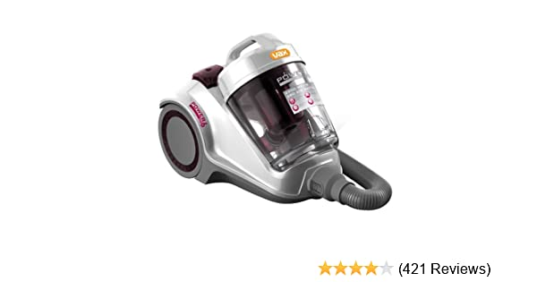 Vax C89 P6N P Power 6 Pet Bagless Cylinder Vacuum Cleaner, 2200 Watt, Silver