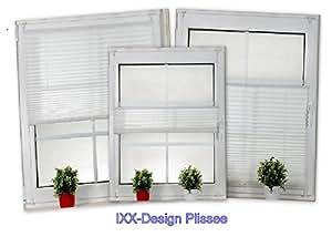 ixx design plissee klemmfix plissee plisseerollo faltrollo wei verspannt hier im. Black Bedroom Furniture Sets. Home Design Ideas