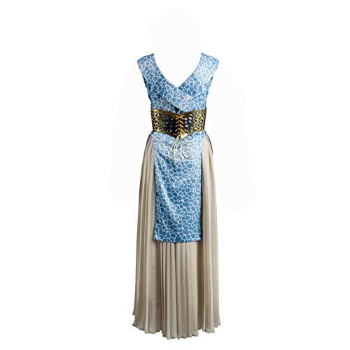 (Karnestore Got Game of Thrones Daenerys Targaryen Dany Abendkleid Cosplay Kostüm Blau Damen S)