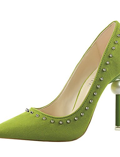 WSS 2016 Chaussures Femme-Extérieure / Bureau & Travail / Soirée & Evénement-Noir / Vert / Rose / Rouge / Gris / Fuchsia-Talon Compensé-Talons / green-us6.5-7 / eu37 / uk4.5-5 / cn37
