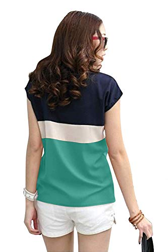 khyati Crepe Casual Tops for Girls Women (Green) (Green, Medium)