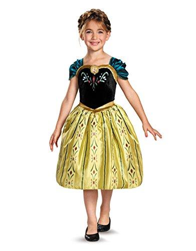 Frozen Kostüm, Kinder Anna Coronation Classic Bademantel, mittel, Alter 7–8Jahren, Höhe 4'2,5cm–4' (Kostüm Coronation Anna)
