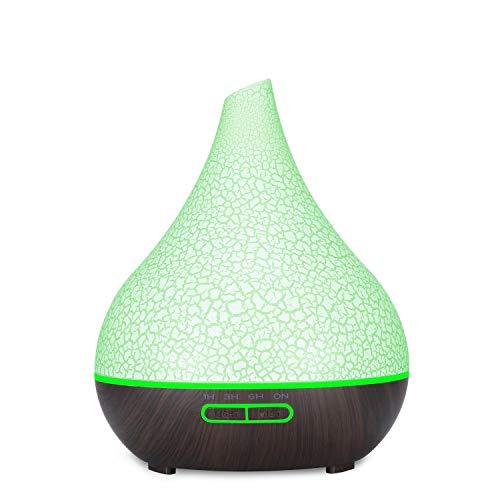 LHZHG Diffusore di Aromi 400ml Diffusore di Olio Essenziale Ultrasuoni Vaporizzatore 7 Colori LED, Purificatore Aria, Diffusore Essenze, per Casa, Ufficio, Camera per Bambini (Color : B2)