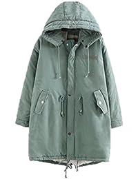 NiSeng Mujer Invierno Abrigo Con Capucha Chaqueta De Acolchado Jacket Outwear Parkas Coats