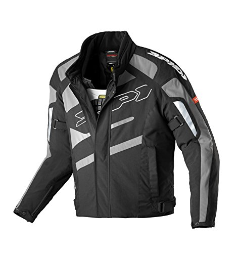 Spidi - Giacca da Moto in Tessuto H2OUT SP33D, Nero/Antracite, 3XL