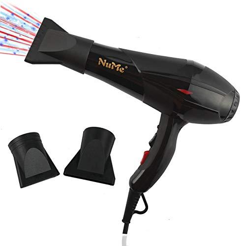 WMWZ Föhn Professional Ionic Fön 2100W Salon Fast Blow Trockner 3 Hitze 2 Geschwindigkeitseinstellungen Haar Diffusoren/Düse-Lange 2,8 M Schnur