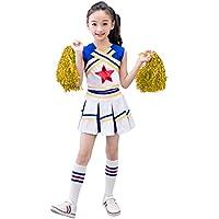 Dreamowl Traje de la animadora de las muchachas Traje de uniforme Cosplay Traje de la alegría de la estrella roja de la juventud (11-12 años)