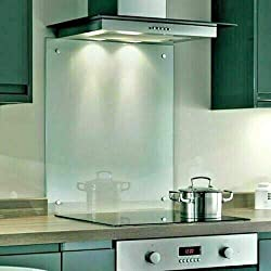 Clear Toughened Heat Resistant Glass Splashback Available in Various Sizes (Clear, 5060C)
