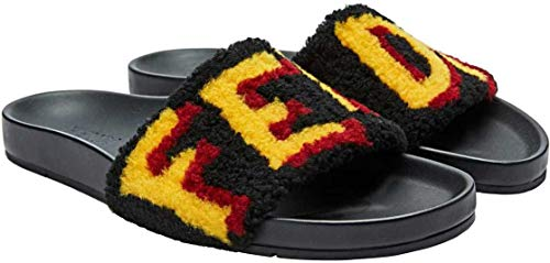 Fendi Herren Fell Fur Sandalen Sandale Mens Shoes Schuhe Mix Montone 2018/19 New Farbe: Schwarz Größe: 42 (Für Fendi-schuhe Herren)