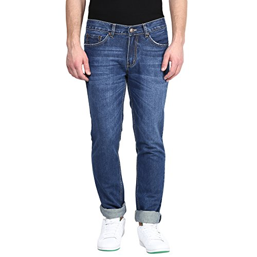 American-Crew-Mens-Straight-Fit-Jeans-Medium-Blue