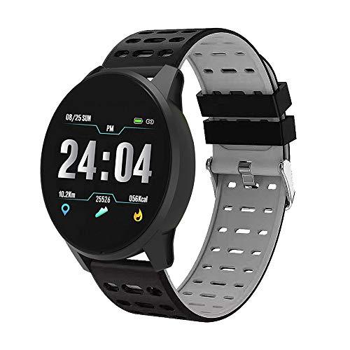 Fitness Armband Uhr Smart Watches IP67 Wasserdicht Fitness Tracker Sportuhr Herren Männer Frauen aktivitätstracker Pulsmesser Schrittzähler Uhr SMS Benachrichtigung für Android IOS (grau)