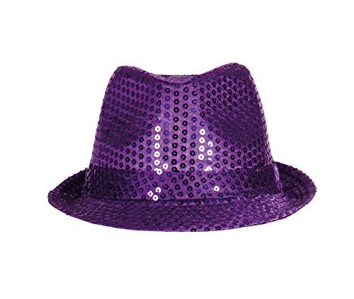 Boland 01257 - Paillettenhut für Erwachsene, Einheitsgröße, violett